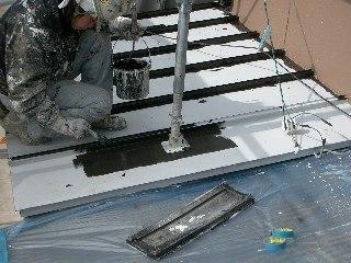 鋼板屋根 上塗り1回目 20.2.7