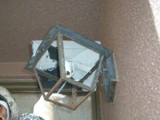 玄関照明器具 塗装 20.2.10