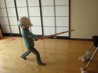 剣道の練習中 2008.3.16