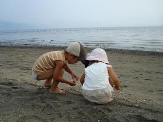 下井海岸にて  2008.8.5