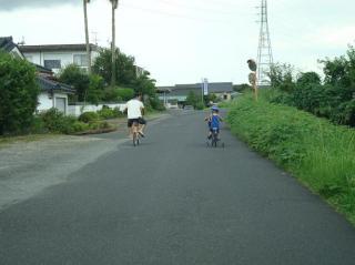 川沿いをサイクリング 2008.8.31