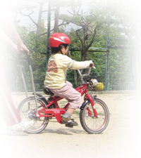 自転車のコマを外して・・・