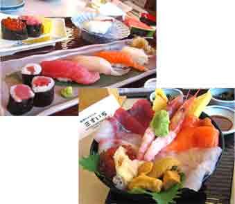 とっても豪華な海鮮丼は格別の味♪