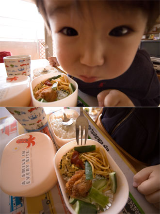 お弁当に大喜び・・・!