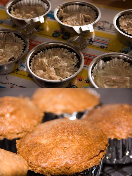 レーズンをたっぷり・・・カップケーキ