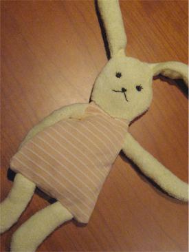 タオル地の人形
