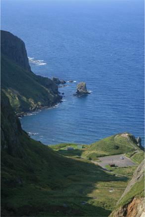 桃岩展望台から望む猫岩