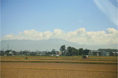 大雪山系旭岳の初冠雪(この写真では全く分からない?)