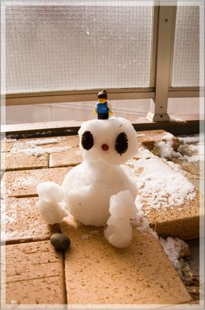とんきち作 雪だるま?