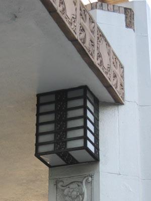 銀行協会玄関外部照明