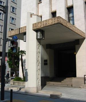 横浜銀行協会庇.