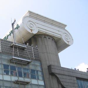 M2外観塔のアップ