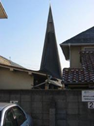 \宝塚カトリック教会 塔の外観2