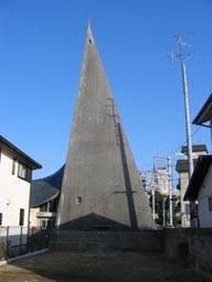 宝塚カトリック教会 塔の外観3