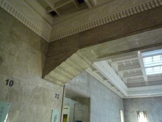 東京国立博物館階段室の梁詳細
