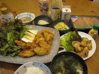 明太子 カキフライ ホタテのバター焼き