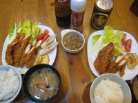大人の海老フライ定食