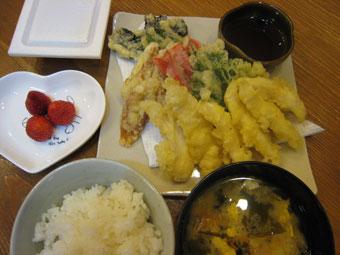 天ぷら お味噌汁 納豆