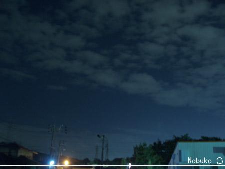 台風一過の夜