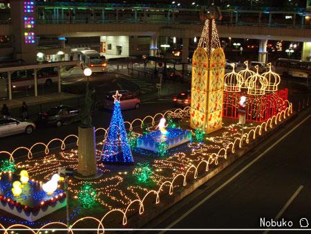 豊田駅前のイルミネーション