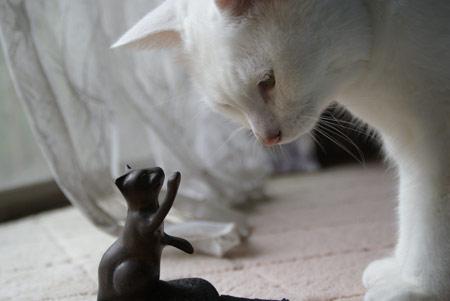 猫のドアストッパーと月子