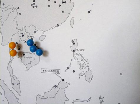 世界遺産マップ(東南アジア)