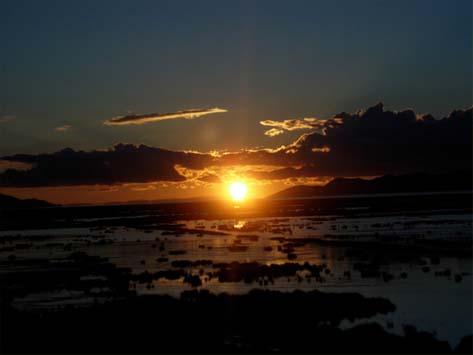 御来光(チチカカ湖)6