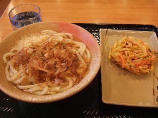 かけ中と野菜天ぷら