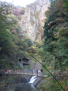 吊橋の風景