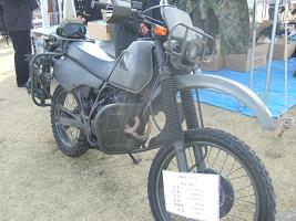 自衛隊の偵察用バイク