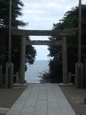 石段上からの太平洋