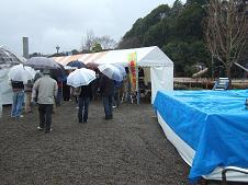 大会会場となったテント