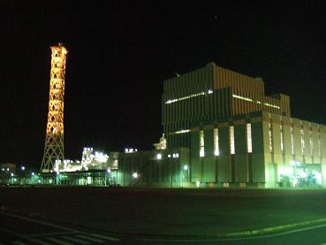 夜の常陸那珂火力発電所