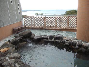 露天風呂からの太平洋