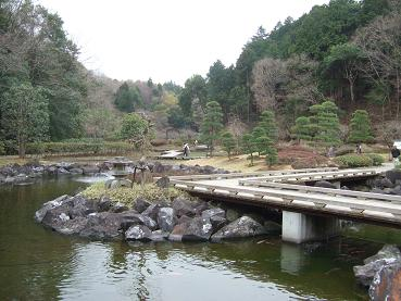 西山荘の庭園
