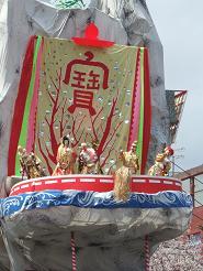 日立風流物の裏舞台の七福神
