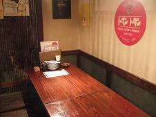 個室風なテーブル席