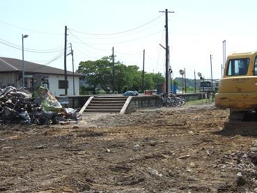 鉾田駅の解体