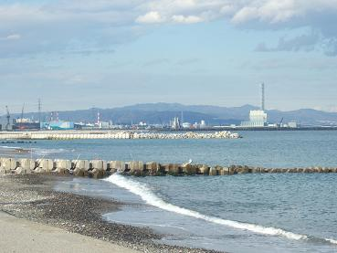 海岸の北には常陸那珂港が・・・