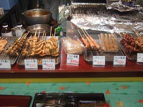 ふるさと食彩工房に並んだ焼き物