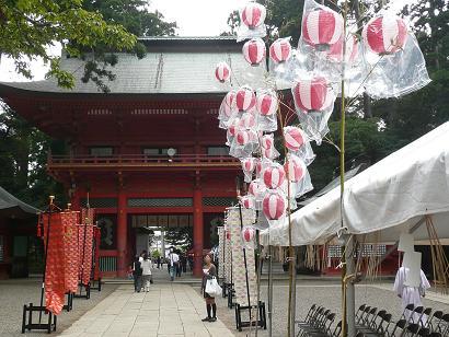 例祭の行われた鹿島神宮