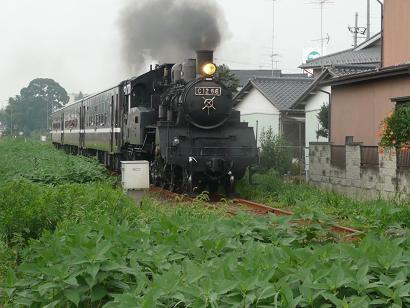 SL C12型の運行(下館駅~下館二高前駅中間)