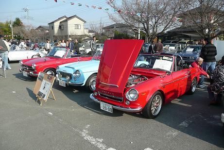 昭和40年頃のクラッシックカーの展示