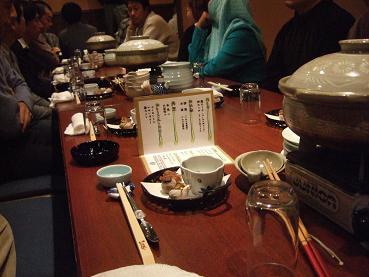 開宴を待つテーブル