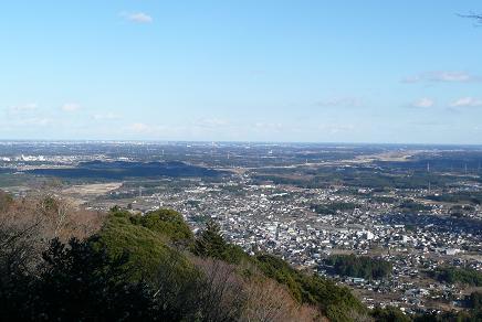 愛宕山神社からの眺望(水戸方面)