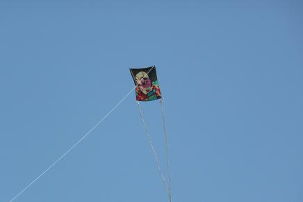 空高く舞い上がった凧