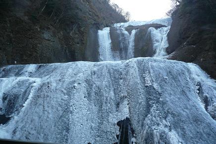 袋田の滝の氷爆