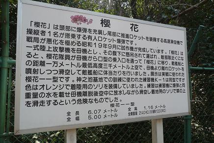 桜花公園の案内看板