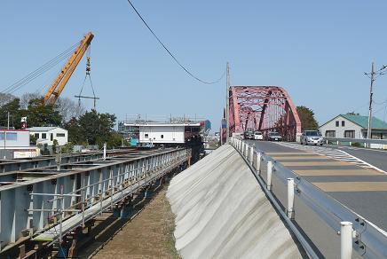 湊大橋の架け替え工事