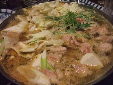 鶏坦々鍋の完成